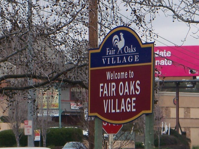 fair oaks california sign