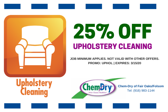 upholstery cleaning fair oaks coupon